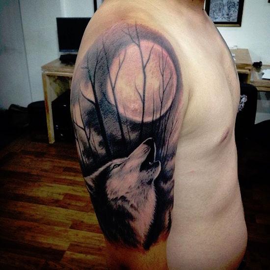 wolf tattoo 13 foto tattoo татуировки