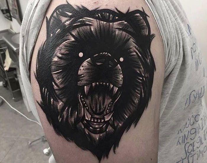 тату медведь фото
