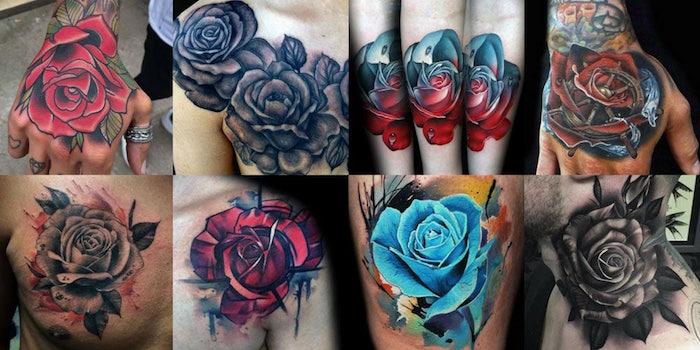 значение тату роза