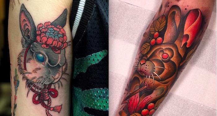 rabbit tattoo 11 1 foto tattoo татуировки