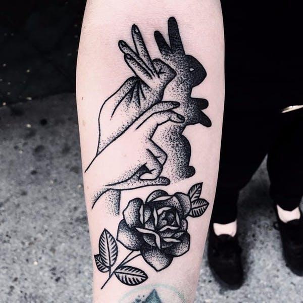rabbit tattoo 19 foto tattoo татуировки