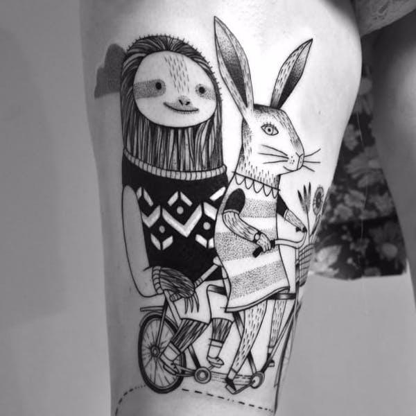кролик заяц тату фото значение