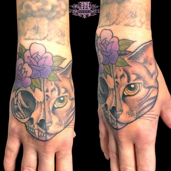 cat tattoo foto 1