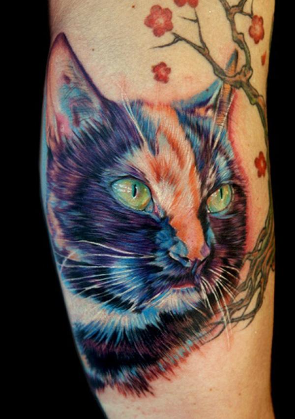 cat tattoo foto 10