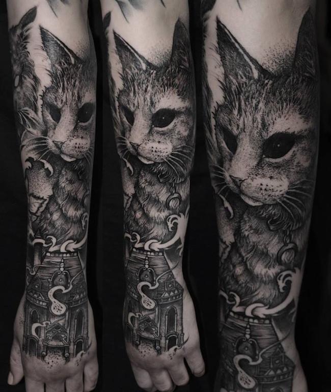 cat tattoo foto 12
