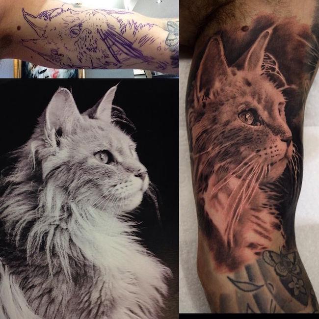 cat tattoo foto 19