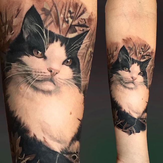 cat tattoo foto 20