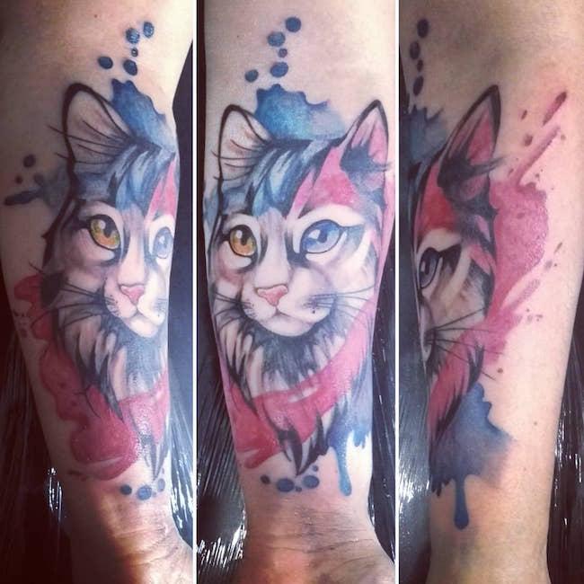 cat tattoo foto 24