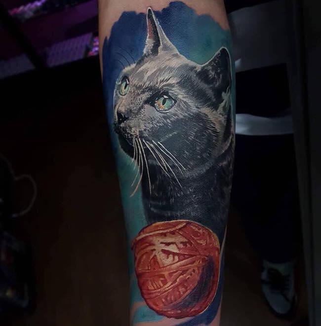 cat tattoo foto 25