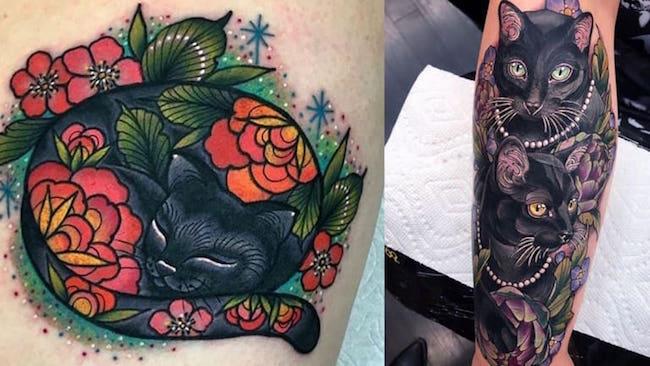cat tattoo foto 28