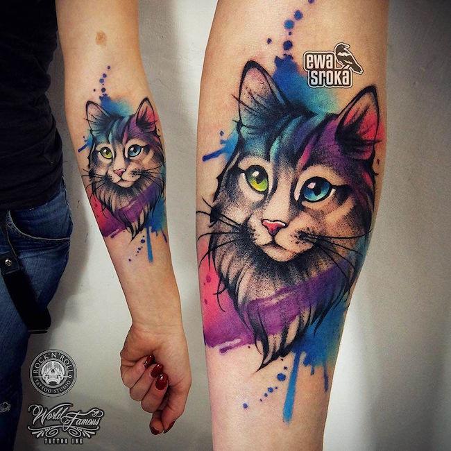 cat tattoo foto 30