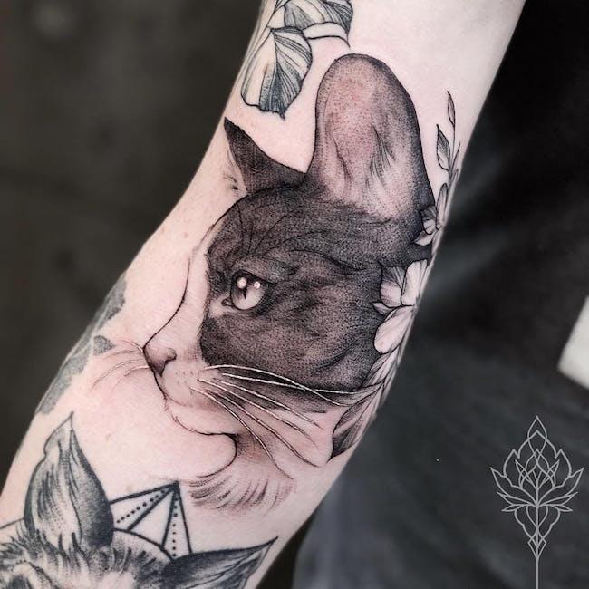 cat tattoo foto 7