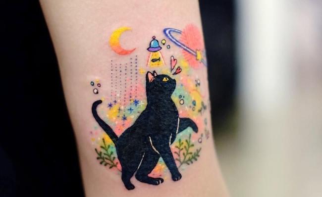 cat tattoo foto 9