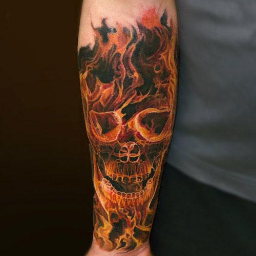 skull tatu foto 1