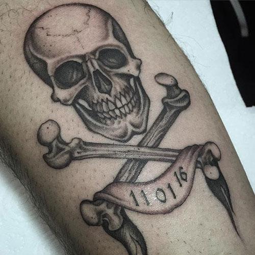 skull tatu foto 10