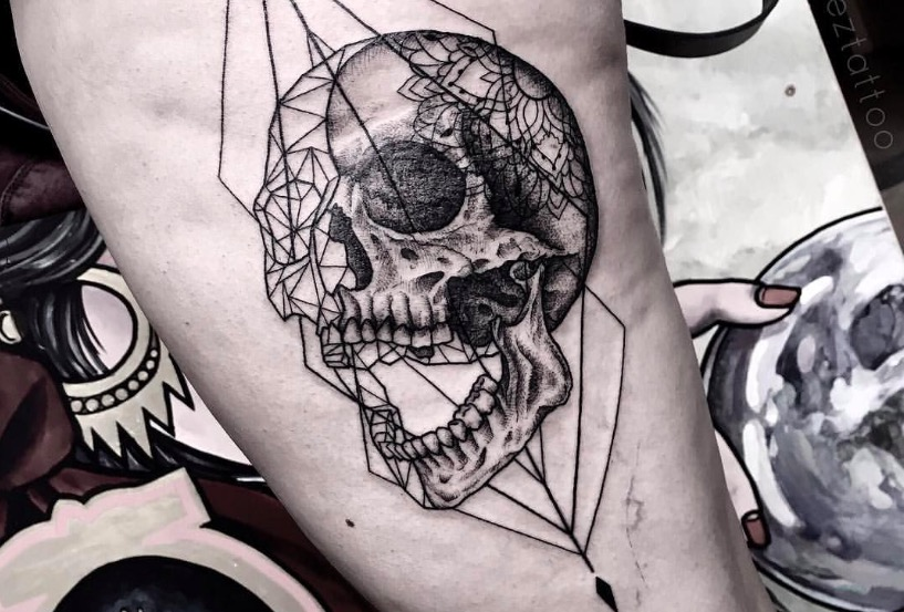 skull tatu foto 12