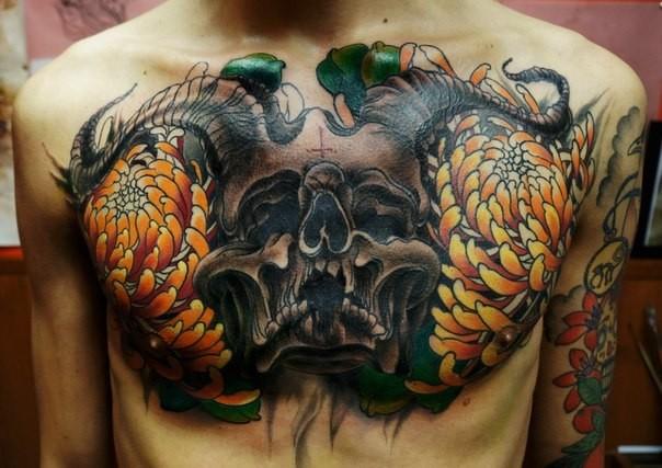 skull tatu foto 13