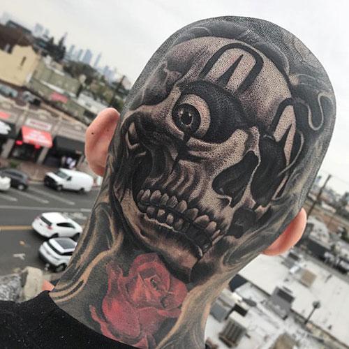 skull tatu foto 2