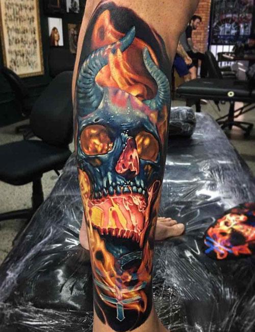 skull tatu foto 5