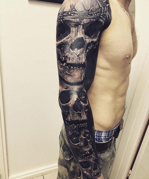 skull tatu foto 6