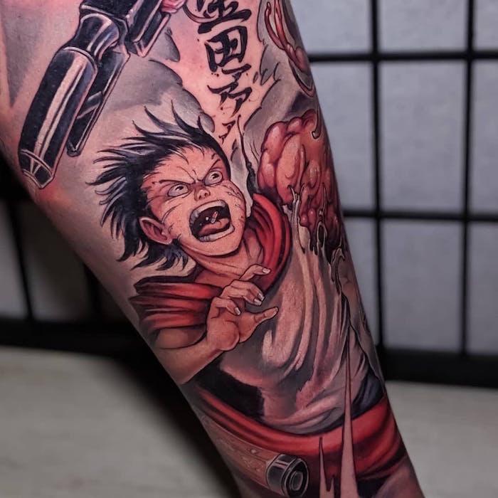 anime manga tattoo foto 2