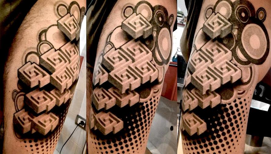 Гипнотические 3D тату иллюзии13