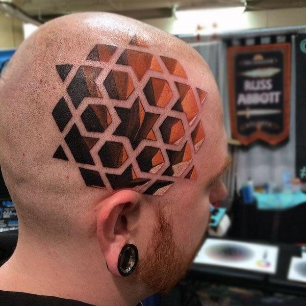 Гипнотические 3D тату иллюзии