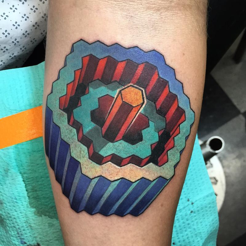 Гипнотические 3D тату иллюзии17