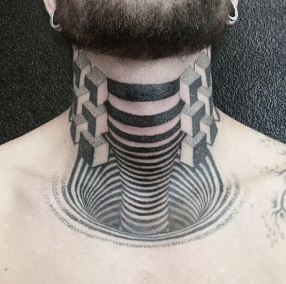 Гипнотические 3D тату иллюзии18