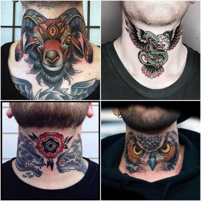 neck tatu foto 1 foto tattoo татуировки