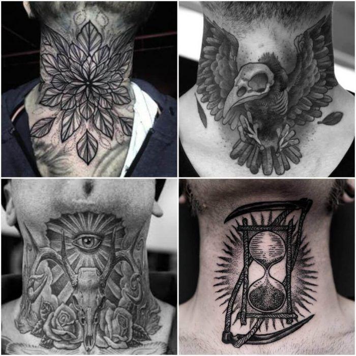 neck tatu foto 3 foto tattoo татуировки
