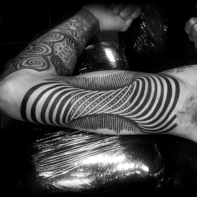 optical illusion tatu 10 foto tattoo татуировки