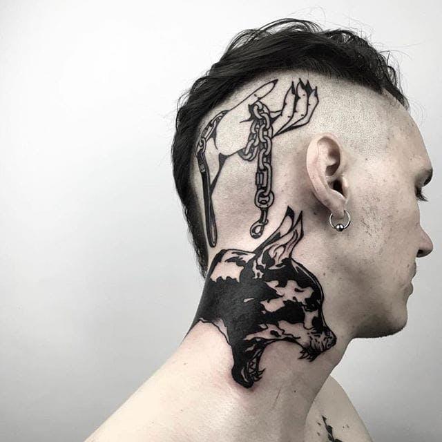 tatu na shee 1 1 foto tattoo татуировки