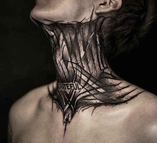 tatu neck 4 foto tattoo татуировки