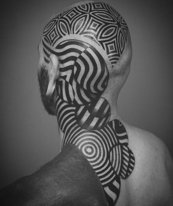 tatu neck 5 foto tattoo татуировки