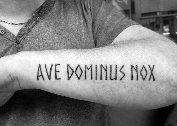 Ave Dominus Nox тату на латыни