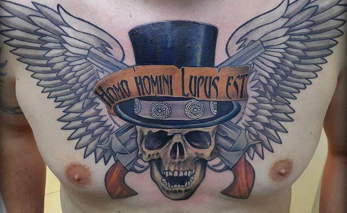 Homo homini Lupus est tattoo foto tattoo татуировки