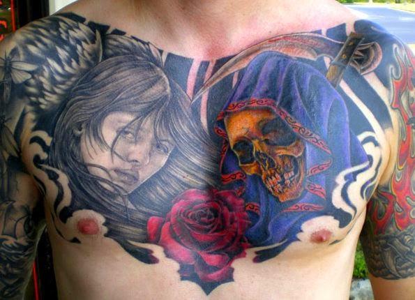 chest tatu na grudi 32 foto tattoo татуировки