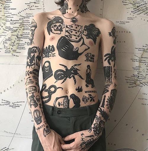 chest tatu na grudi 4 foto tattoo татуировки
