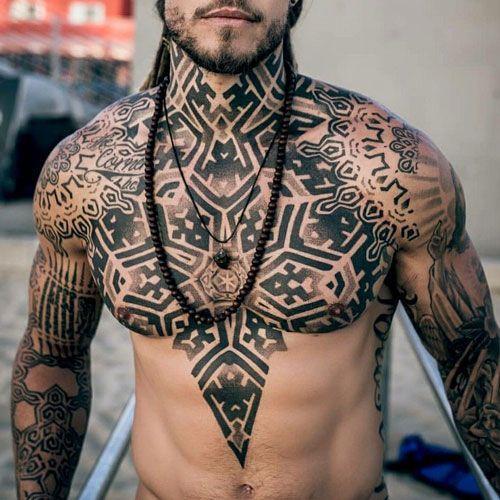 chest tatu na grudi 6 foto tattoo татуировки