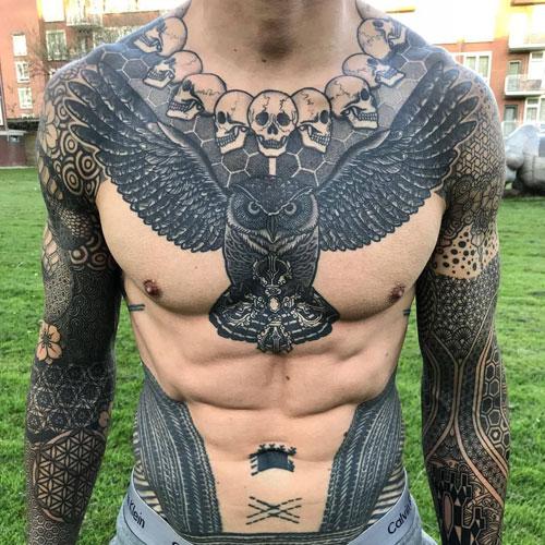 chest tatu na grudi 7 foto tattoo татуировки