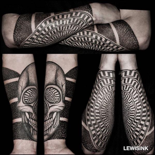 optical illusion lewis ink 11 foto tattoo татуировки