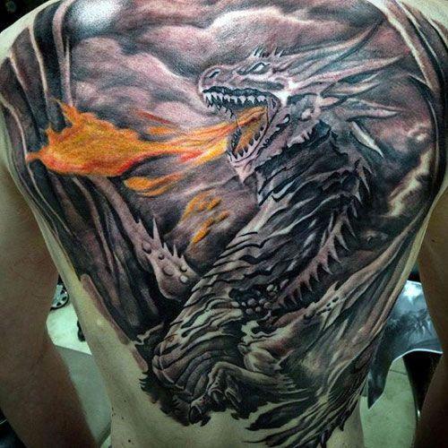 Dragon Back Tattoo 2 foto tattoo татуировки