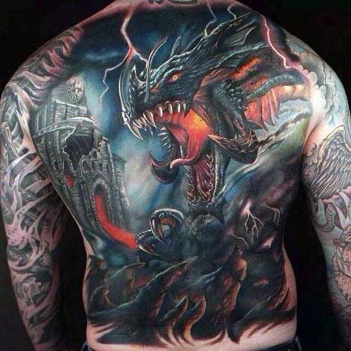 Dragon Back Tattoo foto tattoo татуировки