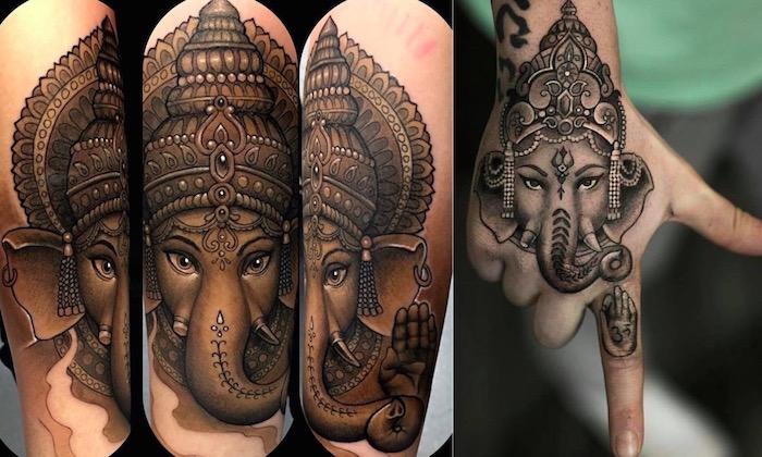 Татуировки Ганеша. Фото. Значение и смысл тату4