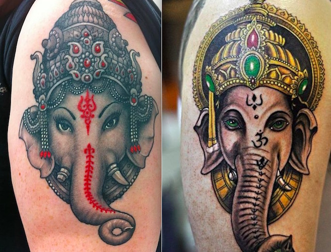 Татуировки Ганеша. Фото. Значение и смысл тату1