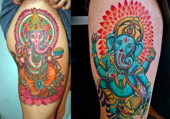 Татуировки Ганеша. Фото. Значение и смысл тату6