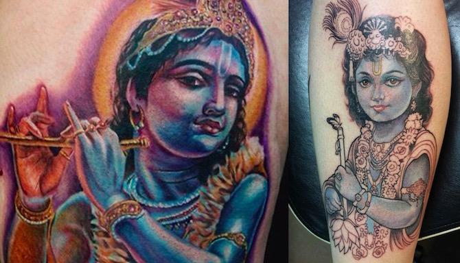 КРИШНА : символизм и значение татуировки4