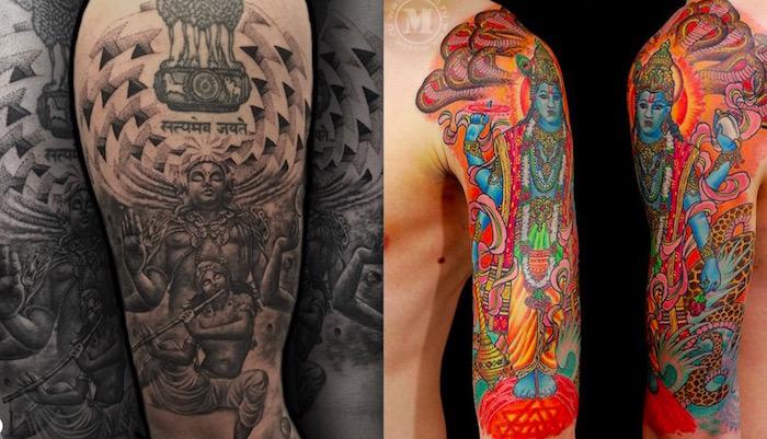 Татуировки Вишну: история, значение и символизм тату1