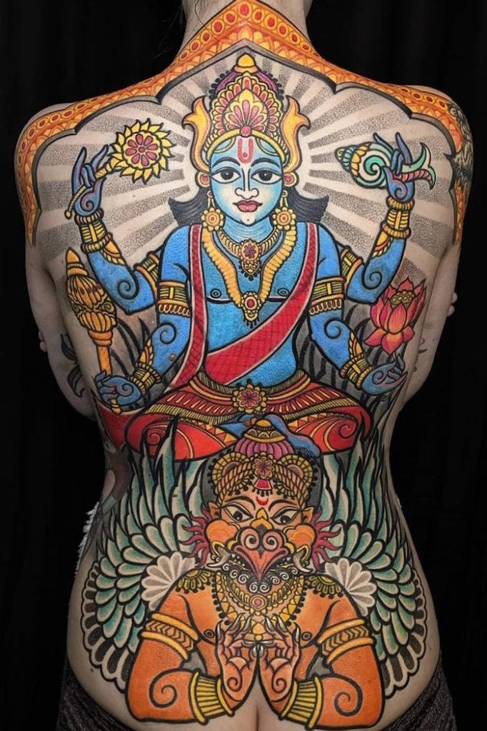 Татуировки Вишну: история, значение и символизм тату2